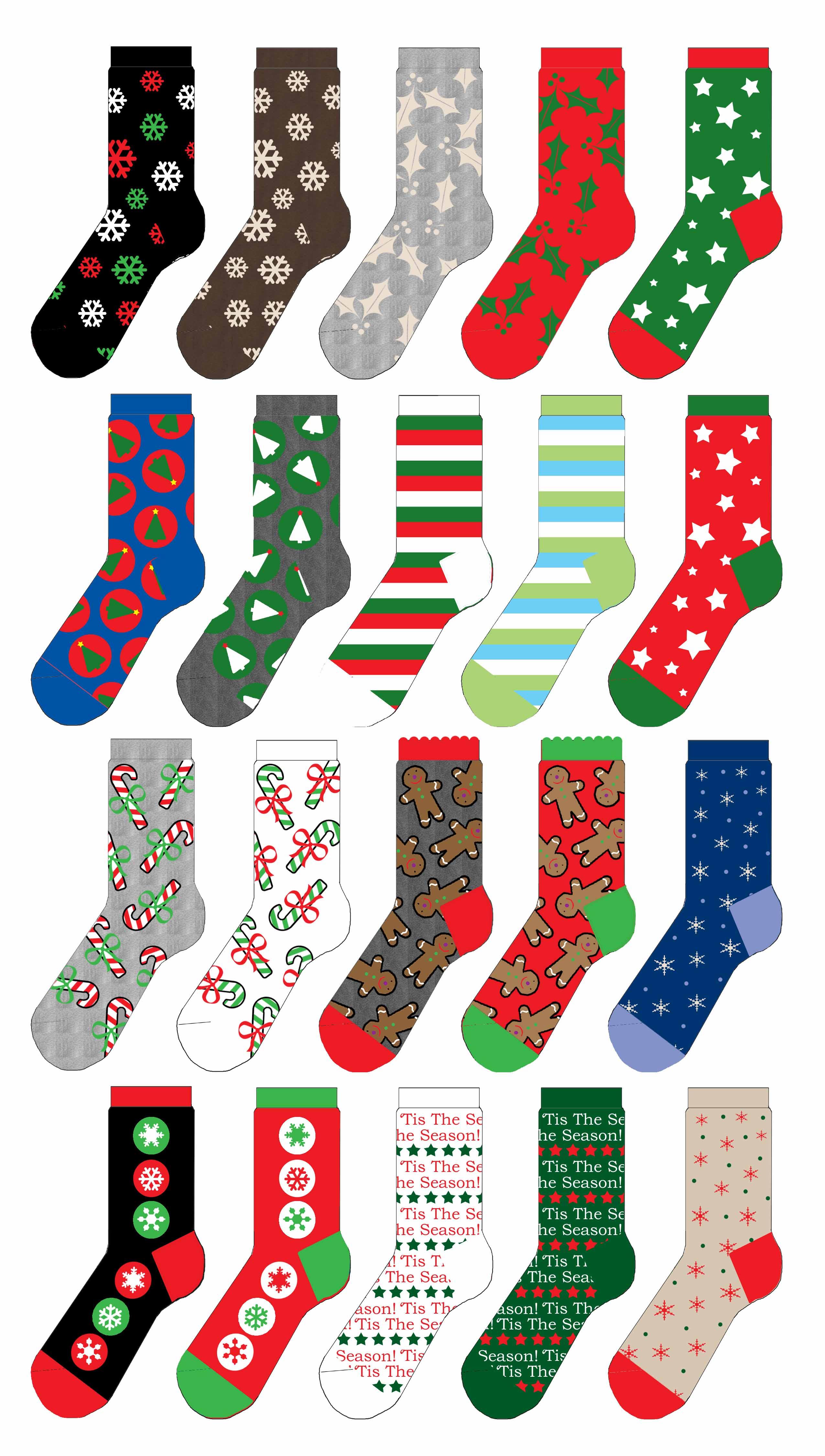 Dana Mcpherson Sock Designs Christmas