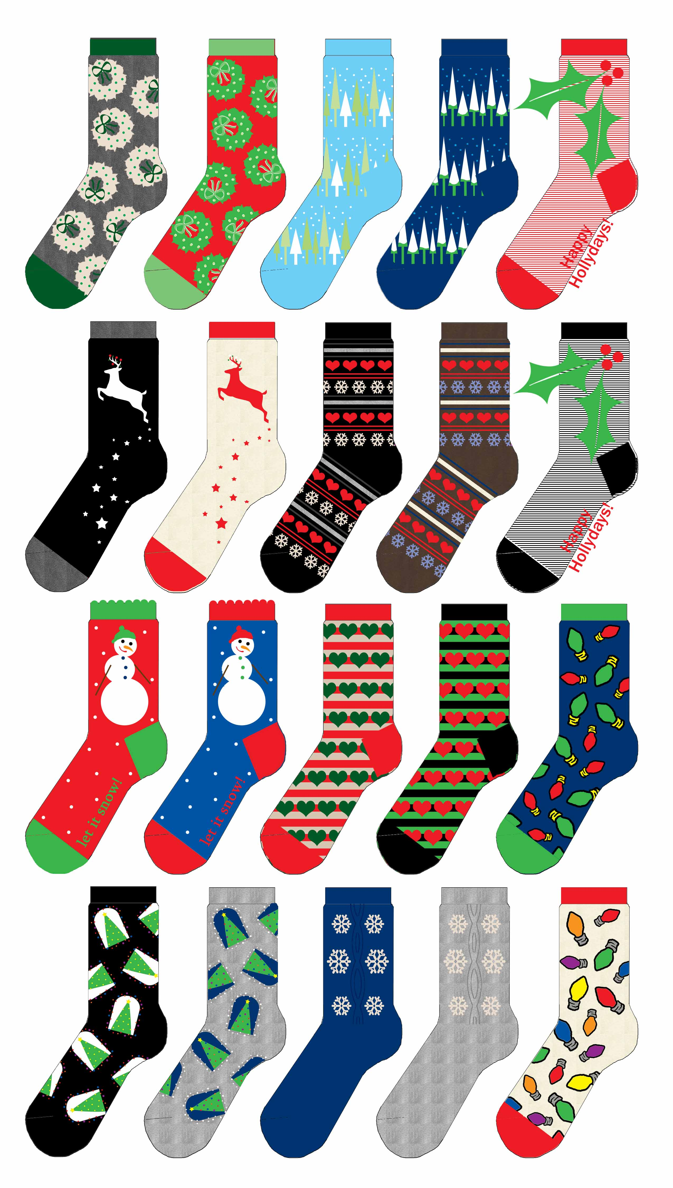 Dana mcpherson sock designs christmas 2 sock designs christmas 2 sock template copy maxwellsz