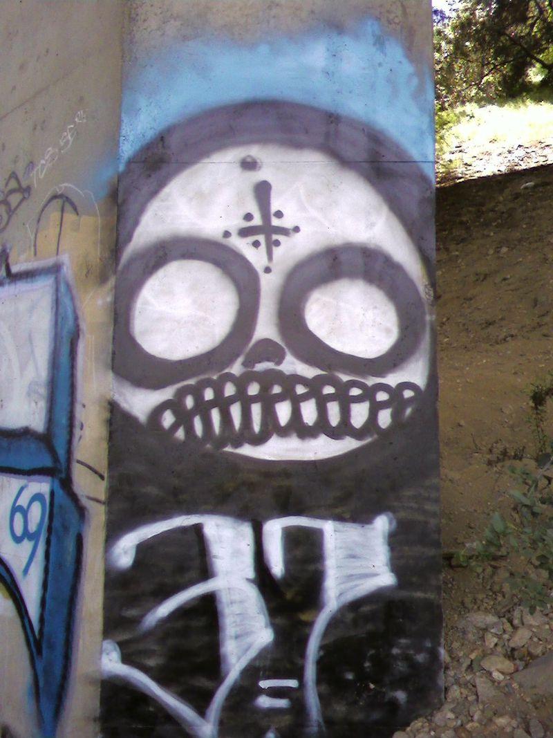 Street painting- demon 2